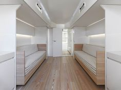 B60 interior by John Pawson. Larch flooring