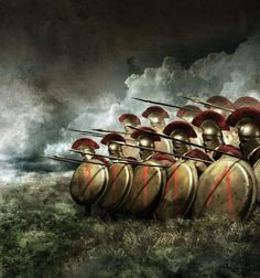 Our shield wall is our borders. We desire nothing beyond our borders & we will kill anyone that tries to cross them without our permission. - Agesilaus the king of Sparta Ancient Sparta, Ancient Rome, Ancient Greece, Greek Warrior, Fantasy Warrior, Fantasy Art, Spartan Shield, Spartan Warrior, Gladiator Tattoo