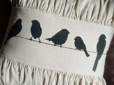 Just Another Hang Up: Birds on a Wire Pillow