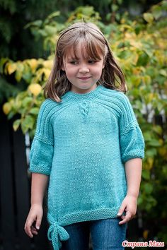 Красивый пуловер для девочки. - Вязание - Страна Мам