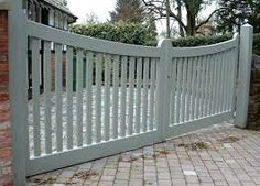 low electric driveway gate wooden