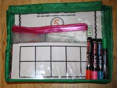 Subitizing - partner activity; Love it! Step by step to make a station game. FREE