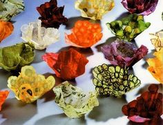 Margaret Dorfmann makes beautiful functional art out of fruit and vegetables.  Large Bowls