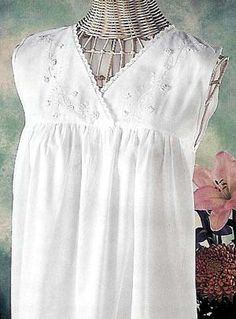 I love these sweet white nightgowns