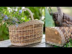 Wicker Baskets, Recycling, Weaving, The Incredibles, Youtube, Recycle Paper, Decor, Design, Canvas