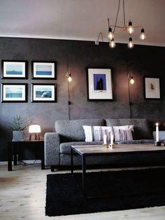 Detale CPH maling og spartel giver din væg et flot beton look My Room, Ikea, Couch, Living Room, Walls, Inspiration, Furniture, Lighting, Design