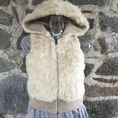 White Rabbit Fur Reversible Vest by VintageKleidoscope on Etsy