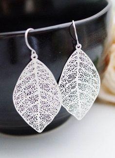 Modern Jewelry Modern Earrings Matte rodium