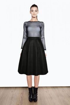 Spódnica midi z tłoczonego materiału 1415/48 Dark Colors, Workwear, Color Trends, Stylish, Heels, Sexy, Pretty, Cute, Pink