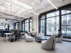 Olson Kundig designed the headquarters of a digital media company, located in New York City, New York.