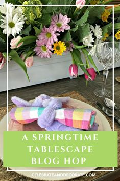 Carrots and Cabbage and Tulips for a Spring Tablescape - Celebrate & Decorate