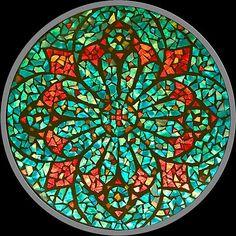 Pomegranate Flower Mosaic