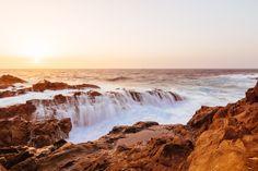 Aguas Verdes by Ernst Gamauf / Rough Seas, Canary Islands, West Coast, Niagara Falls, Waterfall, The Incredibles, Beach, Travel, Outdoor