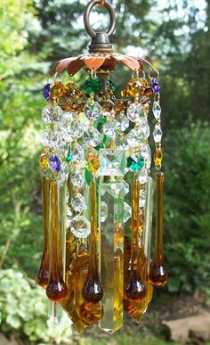 Autumn Crystal Wind Chime