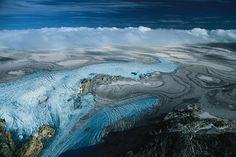 YannArthusBertrand2.org - Fond d écran gratuit à télécharger || Download free wallpaper - Glacier Folgefonn sur les hauts plateaux de Sorfjorden, Norvège (60°14' N - 6°44' E).