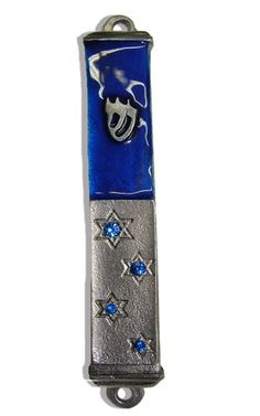 Stars+of+david+Mezuzah+case