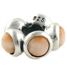 Gems and Silver Pink Cat\'s Eye Stone Birthstone Charms  Fit pandora,trollbeads,chamilia,biagi,soufeel and any customized bracelet/necklaces. #Jewelry #Fashion #Silver# handcraft #DIY #Accessory