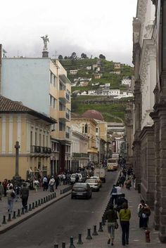 Street Scene in Equador.  Getting acclimated  before making our way to Machu Pichu .