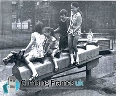 Had lots of fun on this as a kid, never saw anyone get hurt. Rocking horse in a playground. Too dangerous now. You had to hold on really tight when it rocked fast. 1970s Childhood, My Childhood Memories, Childhood Toys, Childhood Images, Swing And Slide, Thing 1, My Youth, Teenage Years, My Memory