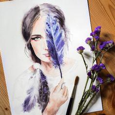Watercolorist: @lulebedeva #waterblog #акварель #aquarelle #painting #drawing #art #artist #artwork #painting #illustration #watercolor #aquarela