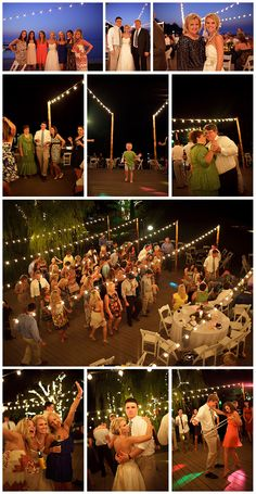 you should use this kind of lighting at your outdoor nighttime reception for pretty pictures! there's surely some flash going on, too, but a lot of the prettiness here has to do with those string lights!