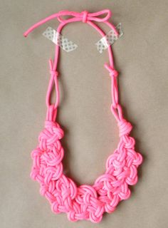 Double Row Knotted Parachute Cord Rope Necklace with by jessphelan, $35.00