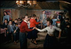 Students swing to a jazz band in a bamboo-lined student center in Vienna, February 1959. Photograph by Volkmar K. Wenztel, National Geographic