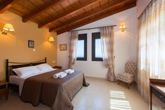 fradellosvillas.gr Villa Chrissi in Gerani, Rethymno - Crete #villa #rethymno #crete #greece #vacation_rental #private #luxurious_accommodation #summer_in_crete #visit_greece #bedroom