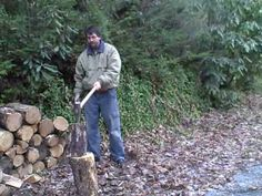 How to split wood.  Start early and season well.