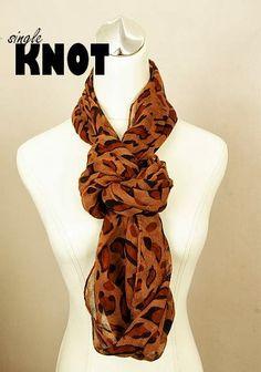 Single Knot. Easy ways to Wear an Infinity Scarf