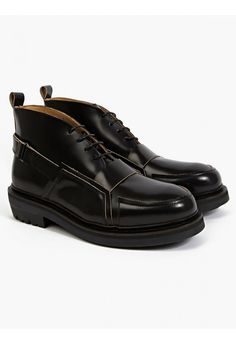 Purified x Craig Green Men's Black Polished Leather Boots | oki-ni