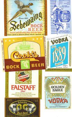 vintage liquor labels