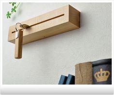 キーフック 壁掛け キーハンガー ブラウンウォールナット。キーフック 壁掛け 鍵の置き場所に-キープット-[おしゃれ キーフック 木製 鍵フック オシャレ 無垢材 お洒落 玄関 鍵収納 カッコいい 壁掛 鍵掛け 手作り 天然木の鍵掛け カギ掛け カギ収納 鍵置き 日本製 スタイリッシュ シンプル センスが良い キーフック 存在感 スッキリ]