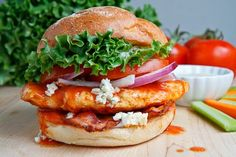 Buffalo Chicken Club Sandwich - I like it that it doesn't have tons of fried coating on it.