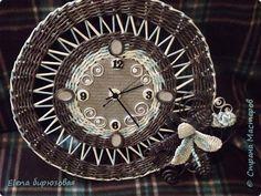 Плетение А у меня опять часы  Бумага газетная Трубочки бумажные фото 1