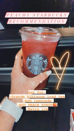 Fruity Drinks, Smoothie Drinks, Yummy Drinks, Smoothies, Non Coffee Starbucks Drinks, Healthy Starbucks Drinks, Starbuck Drinks, Starbucks Secret Menu Drinks, How To Order Starbucks