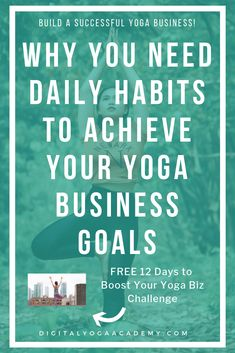 daily habits to achieve your yoga business goals Feeling Like A Failure, Business Goals, Business Tips, Yoga Music, Partner Yoga, Daily Yoga, Yoga Teacher Training, Yoga Routine, Yoga Challenge