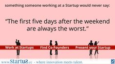 work at #startups | find co- #founders   -- http://www.startus.cc #entrepreneurship