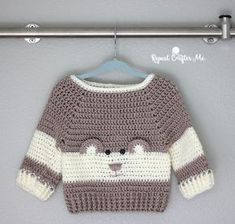 Crochet Character Sweater and Yarnspirations Baby's Day Out Lookbook - Repeat Crafter Me