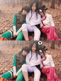 Image via We Heart It https://weheartit.com/entry/158694342/via/29752058 #anime #cosplay #lee #manga #naruto #neji #tenten