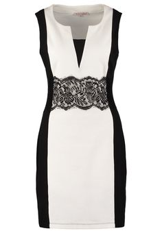Anna Field Vestito di maglina – black/white |