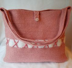 Check out this item in my Etsy shop https://www.etsy.com/listing/481519375/xs-pink-white-crochet-bag