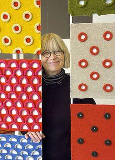 Swedish fiber artist, knitter & author Britt-Marie Christoffersson (b 1937) | via textile arts center