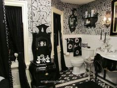 Splendid Goth bathroom  The post  Goth bathroom…  appeared first on  Erre Designs .