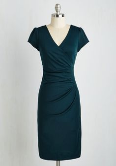 I Think I Can Dress in Teal | Mod Retro Vintage Dresses | ModCloth.com