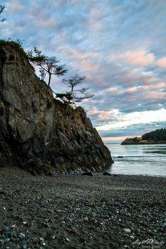 Deception Sunrise by Steven Lamar, via 500px; Deception Pass, Washington