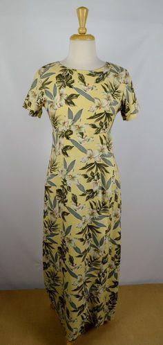 Tommy Bahama Women's Size 6 Yellow Floral Silk Wrap Dress #TommyBahama #FauxWrap #Casual