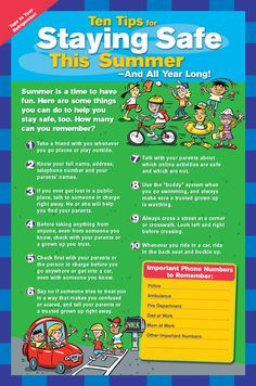Staying safe this summer! Tips 4 kids!