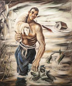 Joseph Paul Vorst,  American (1897-1947) Southern Mississippi, 1941, oil on canvas, signed lower left, framed. #art #american #wpa  www.linkauctiongalleries.com American Art, American History, Mississippi, Art History, Framed Art, Oil On Canvas, Joseph, Southern, Auction