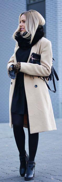 como usar abrigo beige camello